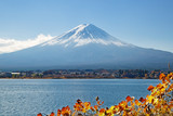 Mount Fuji and Lake Kawaguchi, Japan.