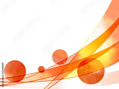 曲線 抽象 ウェーブ 曲線模様 水玉 ドット - 232410097