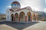 Heraklion, Crete - 09 28 2018: A church on the west road of Heraklion
