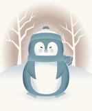Chubby Penguin in Winter Gear