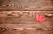A symbol of love on brown background derevier
