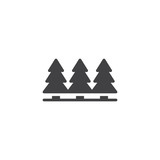 Pine trees vector icon. filled flat sign for mobile concept and web design. Trees forest simple solid icon. Symbol, logo illustration. Pixel perfect vector graphics - 232425429
