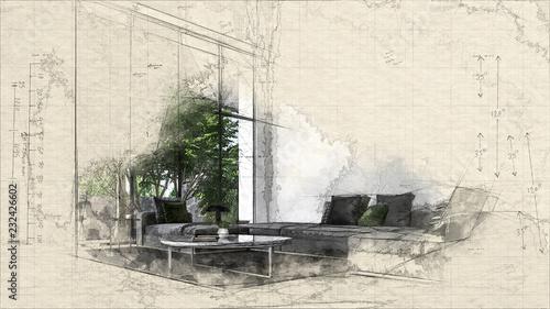 Szkic lub pomysł architektoniczny