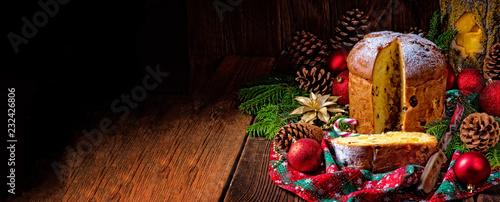 Leinwandbild Motiv a delicious genuine Italian mum Christmas panettone