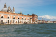 VENICE, ITALY- OCTOBER 30, 2018:  View of the city from the sea in autumn