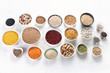 Leinwanddruck Bild - Various grain, cereals, seeds, beans
