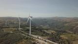 Wind turbine aerial footage. - 232434204