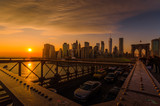 New York Skyline im Sonnenuntergang