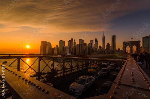 Foto Murales New York Skyline im Sonnenuntergang