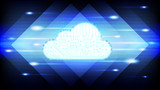 Cloud technology abstract background. - 232436038
