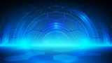 Abstract blue light and shade creative technology background. Vector illustration. - 232436047