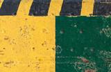 Striped yellow black caution pattern - 232439024