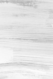 White wooden wall with rough brush strokes - 232439025