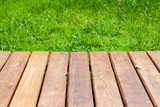 Perspective view of new wooden boardwalk - 232439044