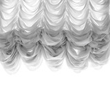 Soft tulle curtain isolated on white - 232439064