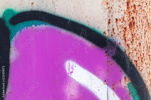 Abstract colorful graffiti fragment