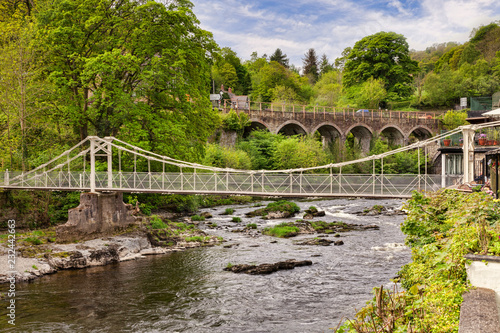 The Chain Bridge, near Llangollen