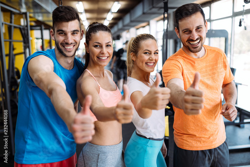 Leinwanddruck Bild fitness, sport, exercising and healthy lifestyle concept