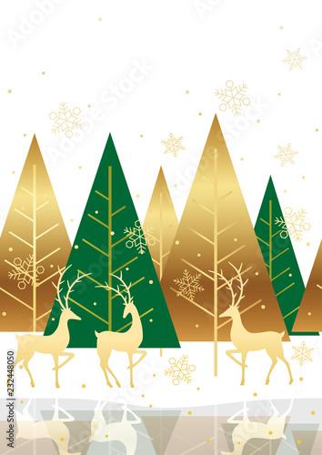 fototapeta na ścianę シームレスなクリスマスの背景