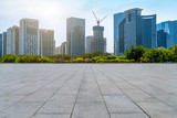 City skyscrapers and square slate ground - 232448811