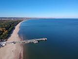 Baltic Sea pier in Gdansk Brzezno at autumn, Poland - 232451263