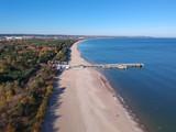 Baltic Sea pier in Gdansk Brzezno at autumn, Poland - 232451298