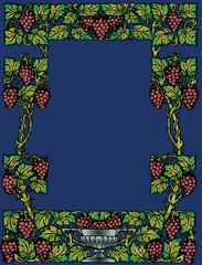 wine floral frame
