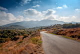 Bright beautiful mountain landscape, Kos island, Greece, a popular destination for traveling to Europe