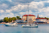 Colorful morning cityscape of popular summer resort Porec. Bright spring seascape of Adriatic Sea. Great  scene of Istrian Peninsula in western Croatia, Europe. Traveling concept background. - 232464001