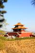Tourist area entrance landscape architecture in Panshan Mountain scenic spot, china