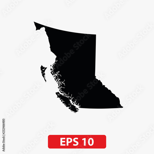 Map Of Canada Silhouette.Map Of British Columbia Canada Vector Buy Photos Ap Images
