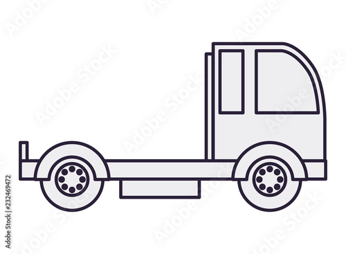 Poster cargo transport truck isolated icon