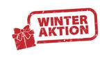 Stempel - Winteraktion Geschenk rot - 232476048