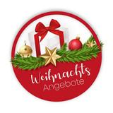 Weihnachtsangebote Sticker Knopf Button Geschnk - 232476211
