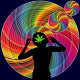 Stimulant and hallucinogenic properties of Marijuana. Woman experiences altered perception and feelings after the use of cannabis - 232482836