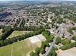 Aerial view over the student area of Headingley in Leeds West Yorkshire UK - 232493244