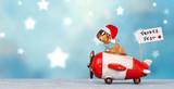Weihnachtsbote im Flieger - 232508457