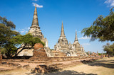 Ruins of the old city of Ayutthaya, Thailand - 232511688