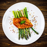 Grilled chicken breast and vegetables - 232512825