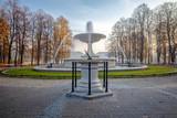 Fontanna w parku Saskim w Warszawie, Jesień