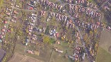 Aerial drone shot part 3 of blocks of flats in a sub-urban area near Budapest, Hungary. - 232520618