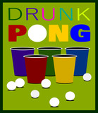 beer pong game with cups and balls - 232523206