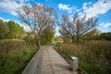 Wooden walkway in Moscow - 232524207