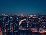Aerial view of city Tallinn, Estonia Business District - 232526462