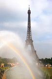 rainbow and Eiffel Tower, Paris © irisphoto1