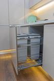 Kitchen interior design sliding cupboard detail - 232545059