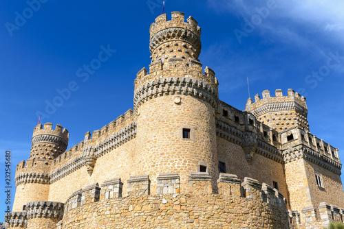 New castle of Manzanares el Real, Madrid, Spain