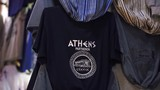 A t-shirt with athens logo in Greece at winter. - 232548059