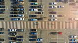 City parking lot and pedestrian crosswalk - 232551635