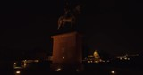 Equestrian Statue of Artur Gorgey at the western side of Buda Castle at night. - 232554831